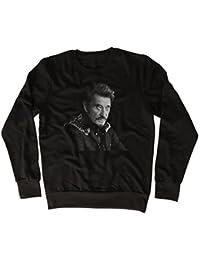 Johnny Hallyday Face Poster Drôle, Sympa, Cadeau, Concepteur, Sweatshirt Unisexe