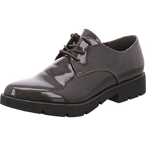 Tamaris  1-1-23701-37-206, Chaussures de ville à lacets pour femme Grau-Kombi.