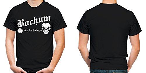 Bochum kämpfen & siegen Männer und Herren T-Shirt   Fussball Ultras Geschenk   M1 Schwarz