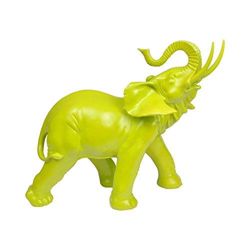 Homea Jardin 5DEJ1130BC - Figura Decorativa de Elefante, de Resina, 37,5x 16x 30,5cm
