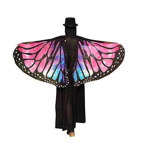 YBWZH Karneval Kostüm Damen Schmetterlingsflügel Kostümzubehör Fasching Kostüme Zubehör Schmetterling Flügel Faschingskostüm Cosplay Kleidung für Show/Daily/Party Tanzkostüm Bühne Kleidung