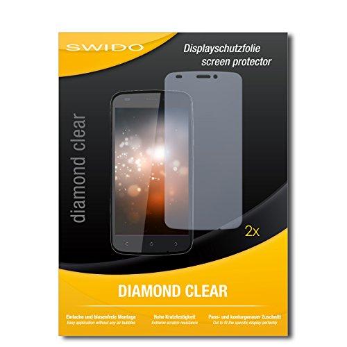 SWIDO 2 x Bildschirmschutzfolie Gionee Ctrl V5 Schutzfolie Folie DiamondClear unsichtbar