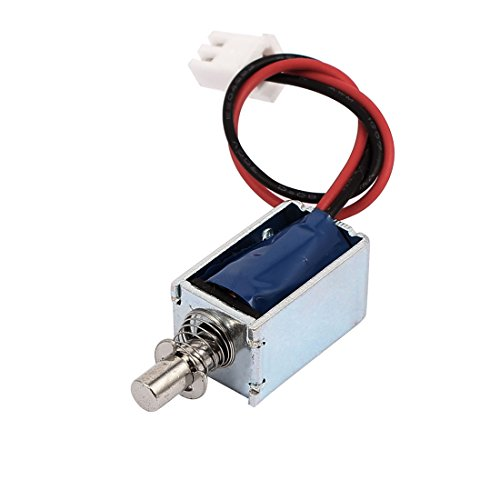 sourcingmap Drücken Typ Türschloss öffenen Rahmen Magnetventil Solenoid Elektromagneten DE de -