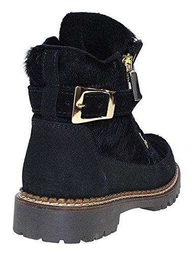 New Italia Shoes s.r.l. , Bottes à lacets femme Schwarz