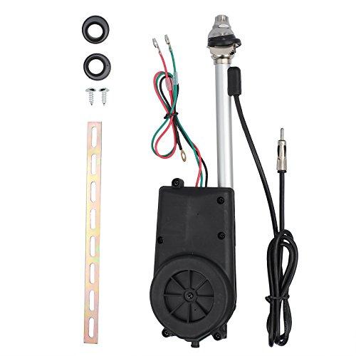 Antena de coche universal para antena el/éctrica Raido con elevador autom/ático SUV de 12 V FM//AM retr/áctil 1 antena