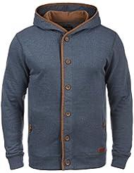 BLEND Alesso Herren Sweatjacke Kapuzen-Jacke Zip-Hoodie aus hochwertiger Baumwollmischung