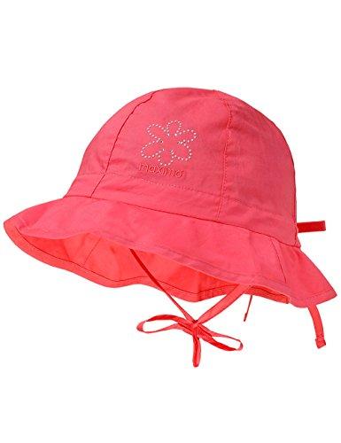 maximo Baby-Mädchen Mütze Hut, Deko Blume, Bindeband, Rosa (Begonie 84), 45
