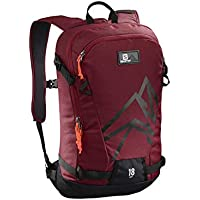 Salomon L40375500 Zaino Leggero da Sci 18 l Side 18, Rosso/Nero (Biking Red/Black)