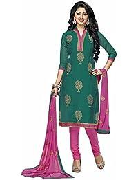 [Sponsored]Manmandir Cotton Silk Dress Material / Salwar Suit For Women (Manjulika_552_Green)