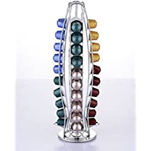 EXZACT EX-NP021-40 Porta capsule per caffè Nespresso (40 pezzi) - Porta girevole per rack Pod