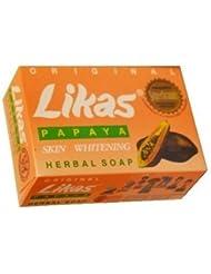 Peau d'origine Likas Papaya Blanchiment Herbal Soap - Teint devient juste et libre de l'acné