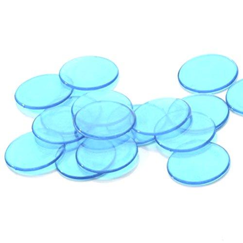 NUOBESTY 40 Stück Kunststoff-Zähler Bingo-Chips Bingo-Zähl-Chips transparent Zähl-Chips für Zähl- und Mathematik-Aktivitäten (blau)