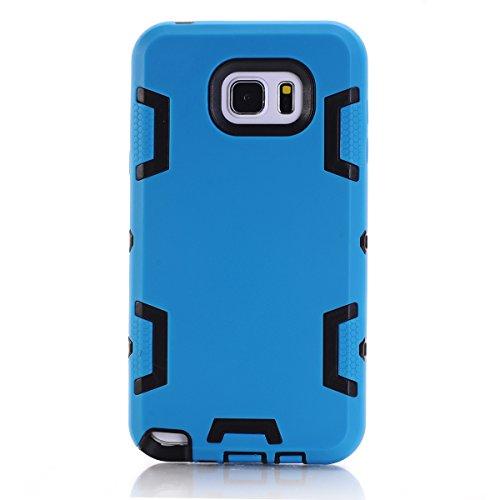 Samsung Galaxy Note 5 Hülle, Forhouse Ultra Slim [TPU + PC][Dual Layer][Roboter-Muster] Schutzhülle [Anti-Rutsch-] Shock-Absorption-Abdeckung für Samsung Galaxy Note 5 (Blau + Schwarz) (Galaxy Note 3 Fall Roboter)