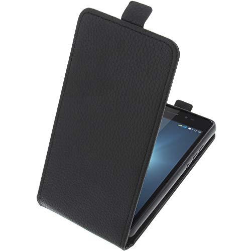 foto-kontor Tasche für Leagoo Z6 Smartphone Flipstyle Schutz Hülle schwarz