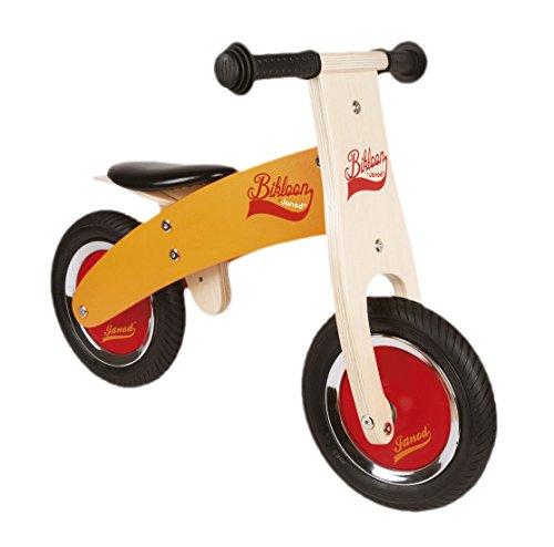 Preisvergleich Produktbild Janod Holzspielzeug - Bikloon Laufrad Klein Reifen Holz, Orange