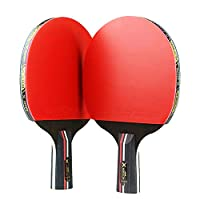 TOPmountain Ping Pong Paddle Set - Best Paddles To Improve Your Game, for Beginner Level Players