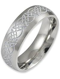 Herr der Ringe Jewelry Unisex-Ring Edelstahl  weiß 1021