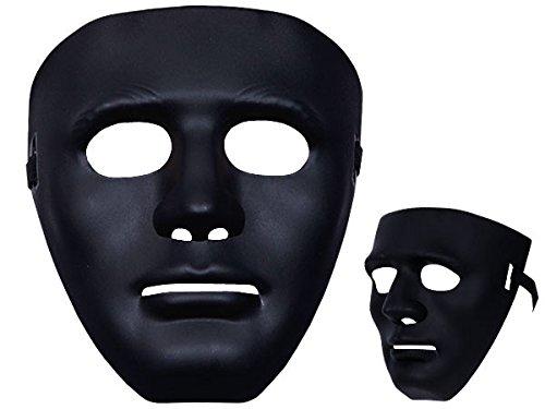 Totenkopfmaske Vendetta Maske Karneval Saw Fasching Maske Blue Mask Kostüme Geist, wählen:Mas-09 Maske schwarz
