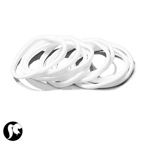 lot-de-10-elastiques-cheveux-en-lycra-blanc-accessoires-attacher-cheveu