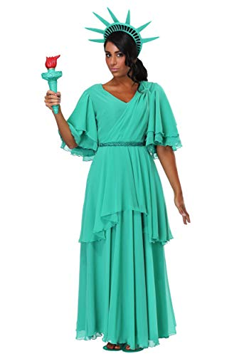 Women's Plus Size Statue of Liberty Fancy Dress Costume 2X