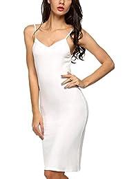 2644dc9cfc72 Cotton Blend Full Slip for Under Dress, Ladies Sleep Nightie Chemise  Nightdress
