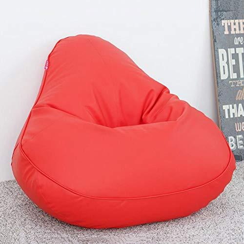 Klappstühle Sitzsäcke Stuhl Wasserdicht PU Drinnen Draußen Sitzsack Gut Für Kinder Erwachsene Gaming Garten Liege Zurücklehnen CJC (Color : Red)