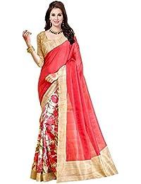 Ishin Bhagalpuri Silk Beige & Pink Printed Party Wear Wedding Wear Casual Wear Festive Wear Bollywood New Collection...