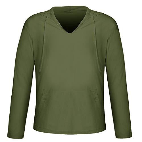 VBWER Herren Herbst Winter Kapuzenpullover Sweatshirt Stripe Langarm Top Bluse Jacke Warm Pullover Jacke Sweatjacke Kapuzenjacke (Cute Wolf Kostüm Kinder)
