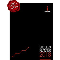 I Can-I Will Success Planner Diary Organizer Weekly Monthly Yearly 2018 Hardbound (FSP18HB)