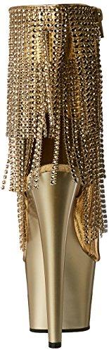 Pleaser Damen Adore-1024rsf Stiefel Gold Mettalic Pu-Gold/Gold Matte