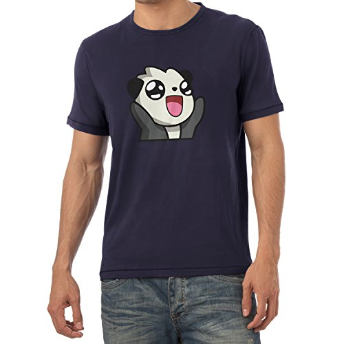 TEXLAB - Panda Face - Herren T-Shirt Navy
