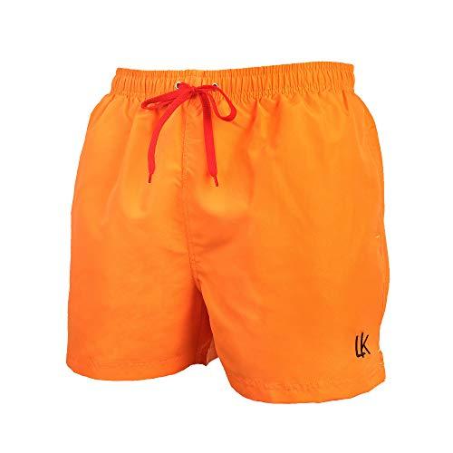 LK LEKUNIBadehose Herren Badeshorts Schwimmhose Boardshorts Kurz Sommer SchnellTrocknend Orange_6XL