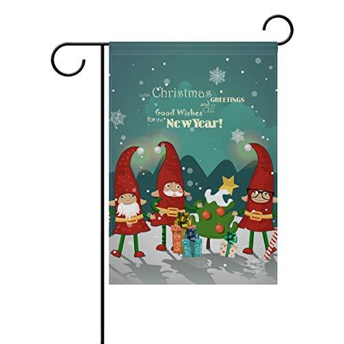 Ahomy Garden Flaggen Weihnachten Neujahr Santa Claus Clown, Polyester, Multi, 28x40inch
