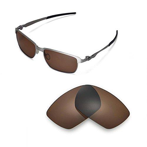 Walleva Ersatzgläser für Oakley Tinfoil Sonnenbrille- Mehrfache Optionen (Braun - polarisiert)