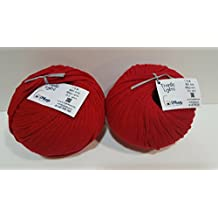 PACK DE 2 BOBINAS DE TRAPILLO LIGERO GEMbags COLOR ROJO