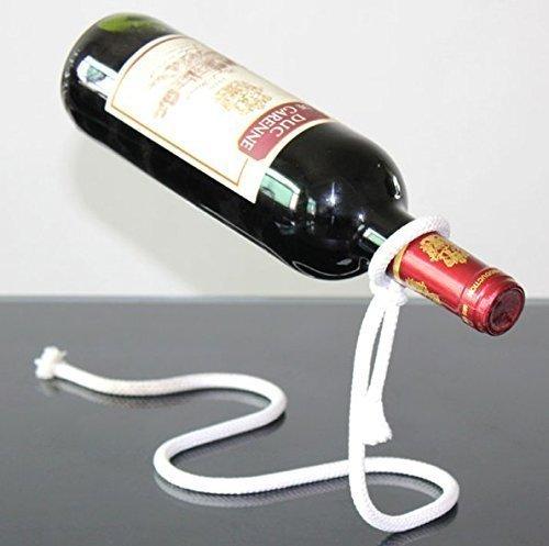 UChic 1 STÜCKE Magische Weinflasche Seil Lasso Halter Überzug Prozess Weinregal Küche Lagerung Bar Werkzeuge-Hält Flaschen schweben In der Luft (Alkohol Flasche Lagerung)