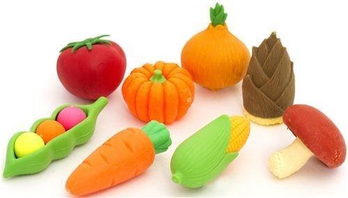 Iwako Radiergummi Gemüse Set 8 Stück aus Japan
