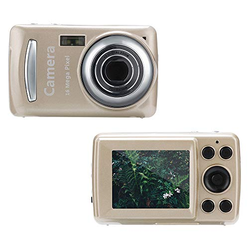 Gaddrt Digitalkamera 2.4HD Bildschirm Digitalkamera 16MP Anti-Shake Gesichtserkennung Camcorder Blank (Gold)