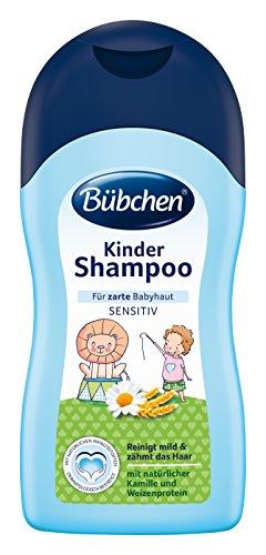Bübchen Kinder Shampoo, sensitives Haarshampoo für zarte Babyhaut, mit natürlicher Kamille und Weizenprotein, Menge: 2 x 400 ml -