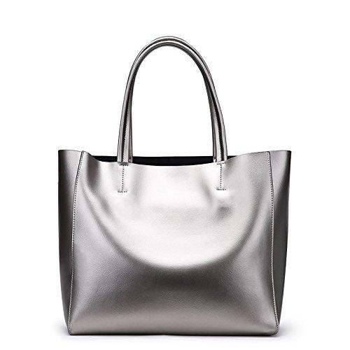 Mefly Mode Leder Handtasche Damen Leder Schulter Handtasche Mit Großer Kapazität black