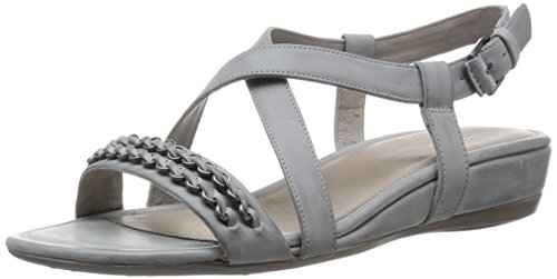 Ecco Touch25S, Damen Knöchelriemchen Sandalen, Weiß (Wild Dove Panama02539), 42 EU
