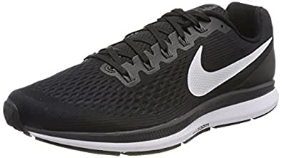 Nike Men's Air Zoom Pegasus 34 Running Shoes, Black (Black/White-Dark Grey-Anthracite), 6.5 UK