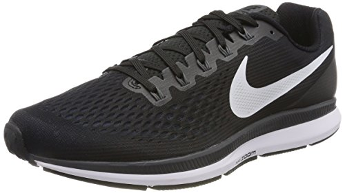 buy popular b9bb9 10236 Nike Herren Air Zoom Pegasus 34 Laufschuhe, Schwarz (Black White Dark Grey