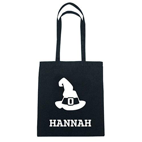JOllify Baumwolltasche Halloween für HANNAH - Hut Hexe Zauberer