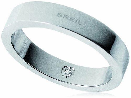 Breil anello uomo acciaio inossidabile cristallo