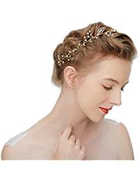 hopewey Perline da donna con strass in cristallo pettini per capelli da  sposa vintage pettine fasce 60fb08f67fe9
