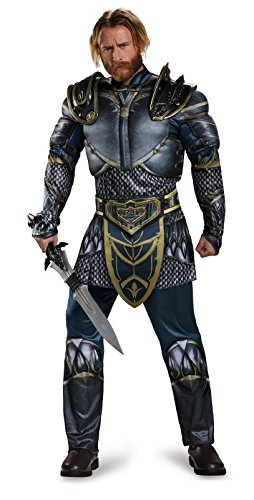 Orc Wow Kostüm - Disguise Men's Warcraft Lothar Muscle Costume, Multi, Medium