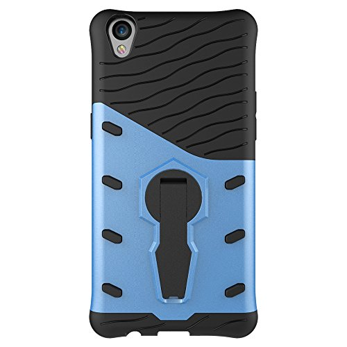 Für OPPO F1 Plus R9 Armor Cover, 2 In 1 Durable TPU + PC Heavy Duty 360 ° Drehbarer Stand Dual Layer Shockproof Case Cover ( Color : Black ) Blue