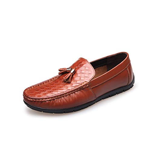 TYX-SS Herren Segelschuhe Freizeitschuhe Deck Toe Leder Mode Flache Schuhe,A,39 -