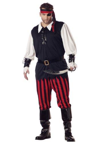 Für Piraten Kostüm Erwachsenen Cutthroat - California Costumes 01611 - Piratenkostüm für Herren Pirat Seeräuber Freibeuter Kostüm Übergröße 3XL